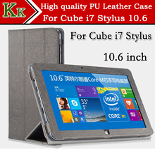 Original Cube i7 Stylus case PU Leather Case Smart Stand Cover Folding PU Case For Cube i7 Stylus 10.6 inch tablet Freeshipping