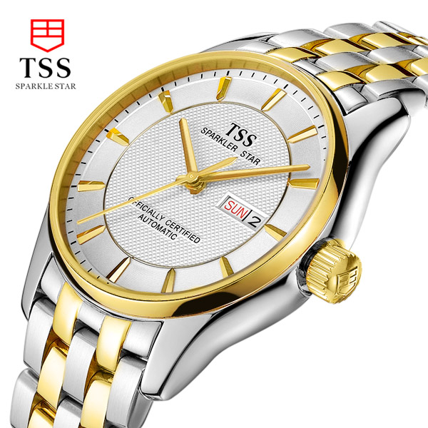 TSS brand new authentic men automatic mechanical watch waterproof hollow out business fashion stainless steel luxury watches<br><br>Aliexpress