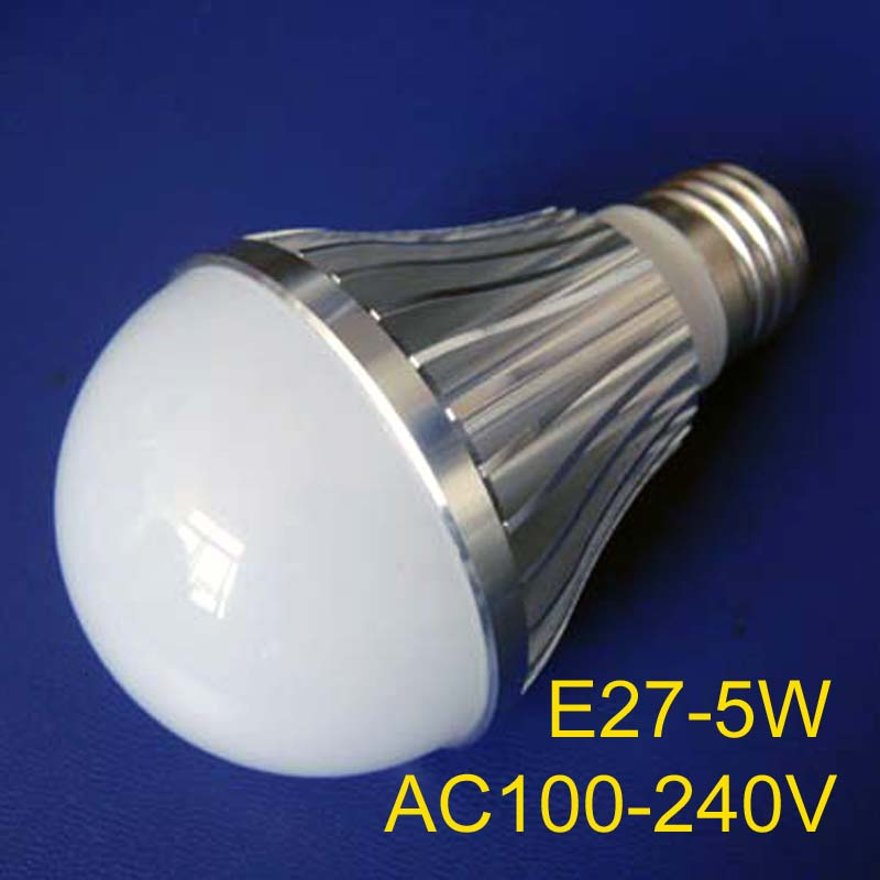 High quality E27 led droplight,Hogh power E27 5w led bulbs E27 Bubble Ball Bulb E27 Indoor light free shipping 5pcs/lot(China (Mainland))
