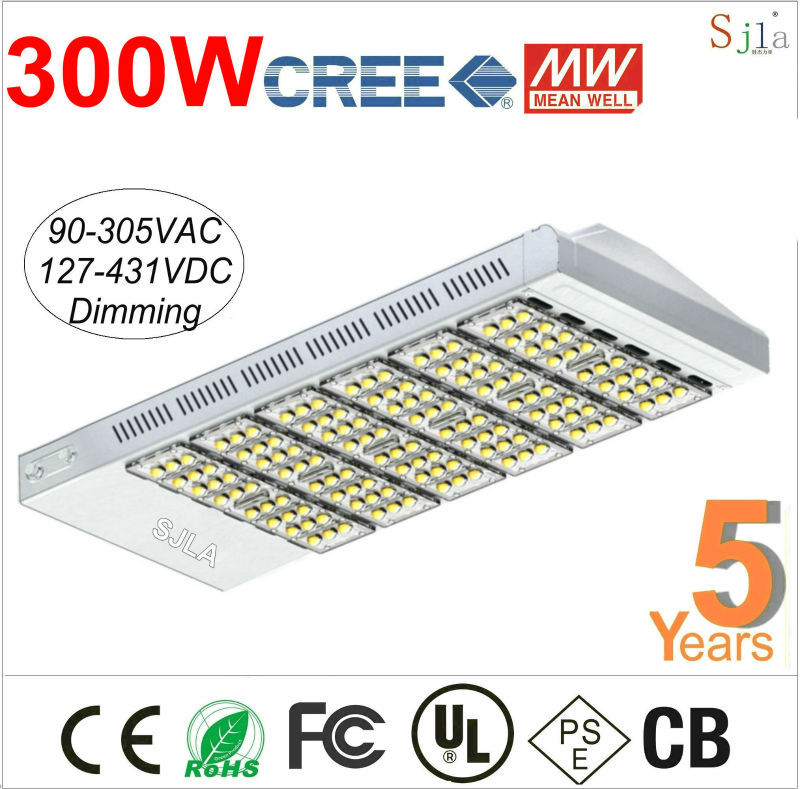 CREE Mean Well Dimming Warrty 5 years warranty can do Sensor Industrial Outdoor Lighting IP67 Waterproof 300W Led Street Light(China (Mainland))