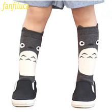 Toddler New Totoro Design Knee High Baby Socks Girls Boys Fall Winter Leg Warmers Fox Socks Knee Pad Meia(China (Mainland))