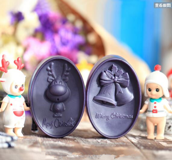 Christmas silicone mold for soap and candles making mould Diy Craft Molds Christmas deer, Christmas bells(China (Mainland))