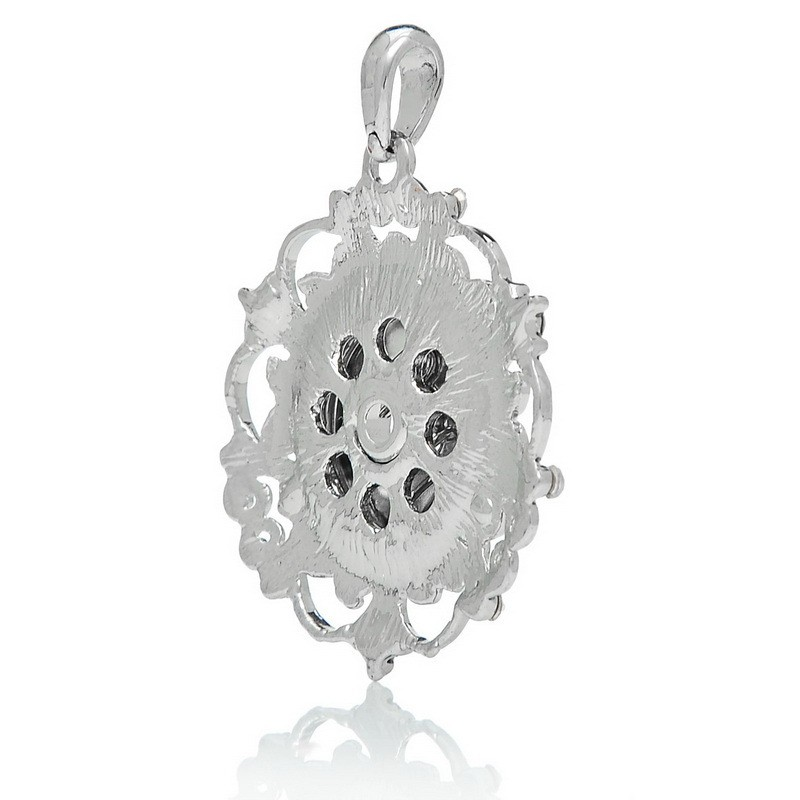 JACK88 10pcs/lot  Rhinestone Silver Flowers Snap Pendant DIY Snap Button Jewelry Fit 18mm Snap Button Charms  N634