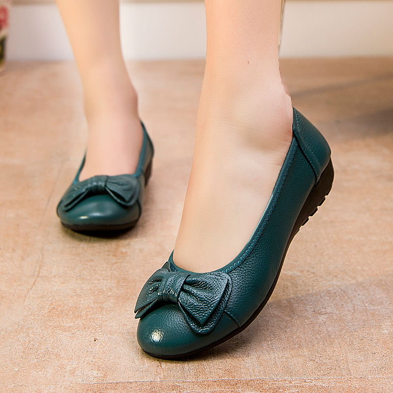 Plus Size(34-43) Women Shoes Genuine Leather Flat Shoes Woman Maternity Casual Work Shoes 2016 Fashion Loafers Women Flats