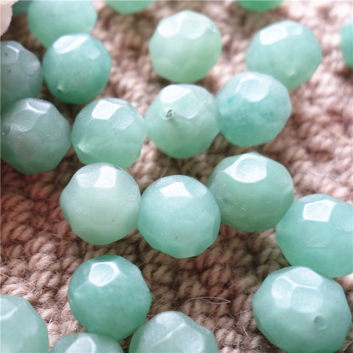 14mm aventurine quartz faceted bead matte natural stone loose bead good for diy material sold by lot best offer IB2451(China (Mainland))