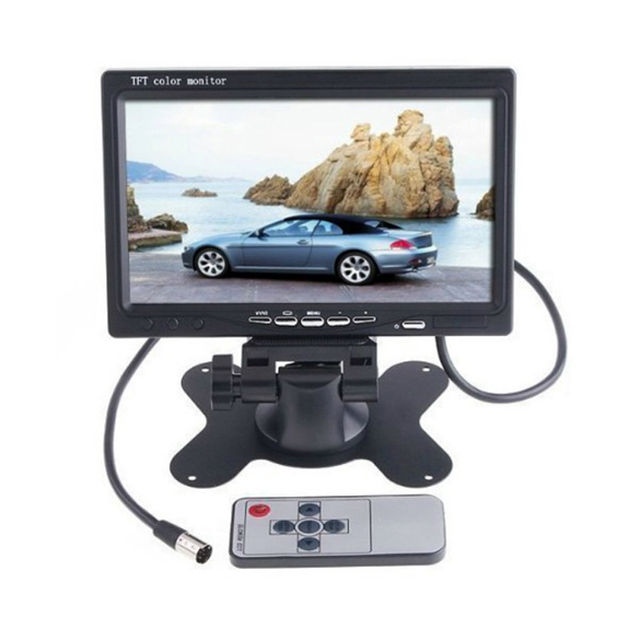 2015 New Arrival 12/24V 7 inch TFT LCD Car Monitor + 2.4G Wireless Cmos Rearview Camera For Car/Truck<br><br>Aliexpress