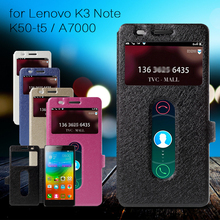 Buy Lenovo K 3 Note K50 T5 Case Silk Texture Dual View Window Leather Cover Case Lenovo K3 Note K50-t5 / A7000 7000 Teana for $2.78 in AliExpress store