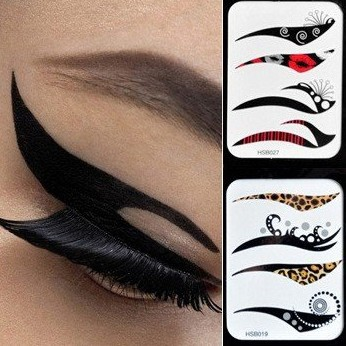 40pairs/Lot New Fashion Mix Eye Liner Sticker Tattoos Makeup Tools AE01626-in Temporary Tattoos ...