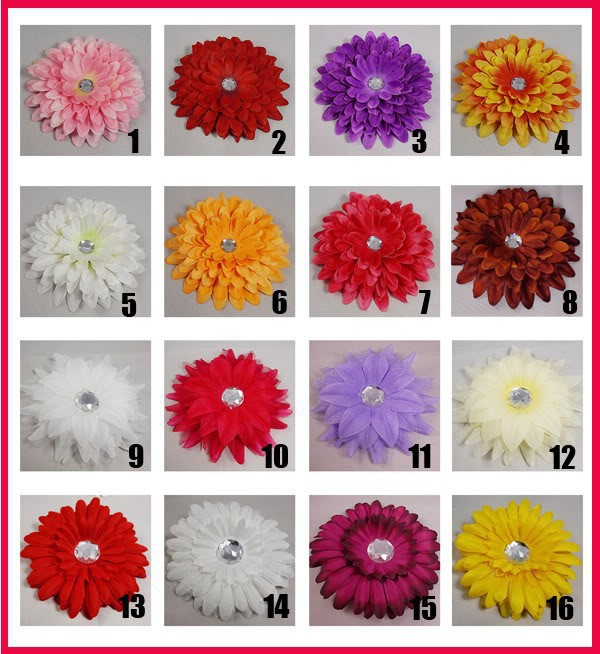 Free shipping! 40X Daisy Flower Hair Clip Boutique Wholesale Lot HF008(China (Mainland))
