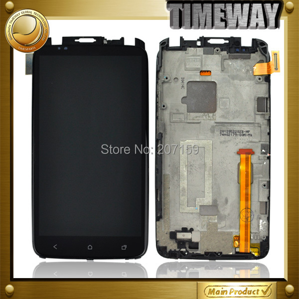 LCD Display + Touch Screen Digitizer + Frame Front Cover Complete For HTC ONE X S720E G23 With Logo Free Shipping(China (Mainland))