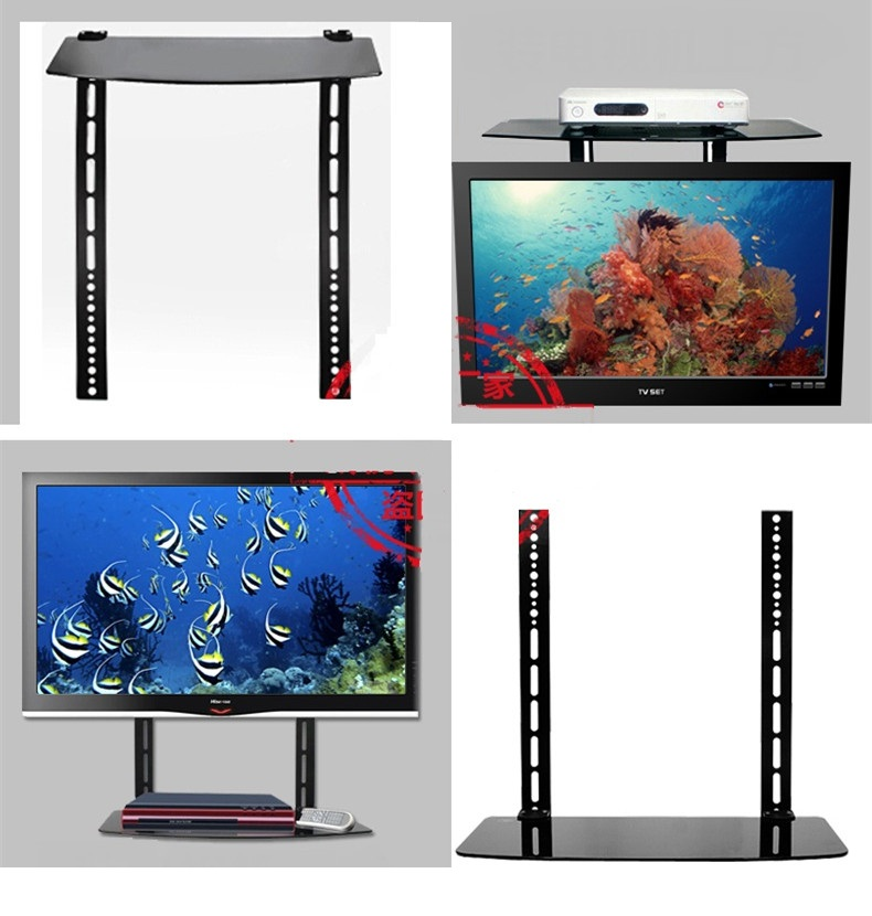 1 Single Glass Shelf Wall Mount Bracket Under TV Component Cable Box DVR DVD VESA sizes: 200x200 mm - 400x400 mm AE109CK1DE(China (Mainland))