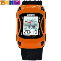 Colorful Skmei Brand Car Styling Childrens Watches Jelly Silicone Strap Digital Watches for Boys Girls 50m Waterproof Back Light