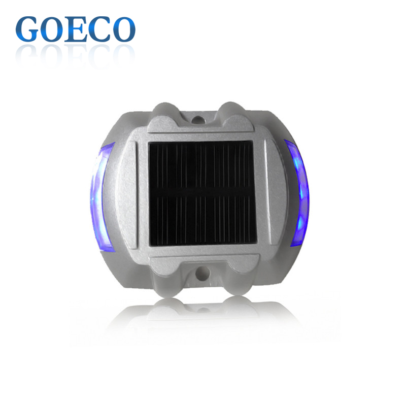 1X Path Driveway Pathway Solar Powered Deck Light Warning Light LED Security Lights 500M Visible Distance Solar Traffic lights(China (Mainland))