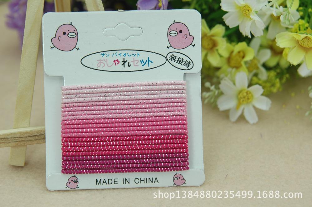 Free shipping 20pcs/bag lHot-selling girls hair bands Small baby rubber band Mix color princess hair accessories Good hair loop(China (Mainland))