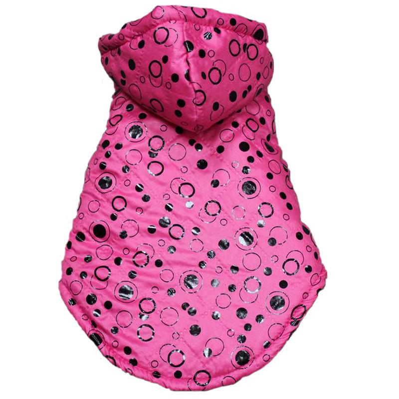 Cheap Hooded Dog Clothes For Small Dogs Jackets Coats Fashion Polka Dot Down Jacket Chihuahua Puppy Pet Products(China (Mainland))