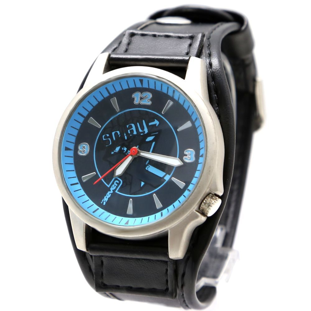 Faux Leather Band Hot Good FW397C New Black Dial Black Band PNP Shiny Silver Stainless Steel Watchcase Unisex Fashion Watch(China (Mainland))