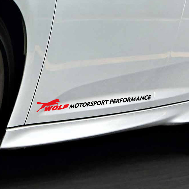 1 Pair Customization Wolf MOTORSPORT PERFORMANCE Car Door sticker FORD FOCUS 2 focus 3 Mondeo Fiesta Kuga MK2 MK3  -  Sticker Factory Store store