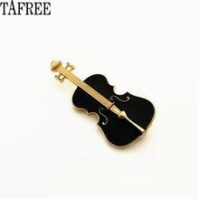 TAFREE Violino, Chitarra, Pianoforte, Perle, nota musicale Risvolto Spilli Smalto Spille Vestito per il Sacchetto Delle Donne Distintivo Collare Cappello Pinze LP374(China)