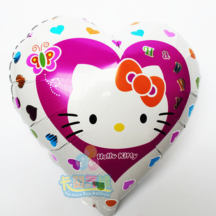 100pcs/lot Wholesale hello kitty balloon foil balloon 18inch hello kitty party inflatable balls for childrens party supplies(China (Mainland))