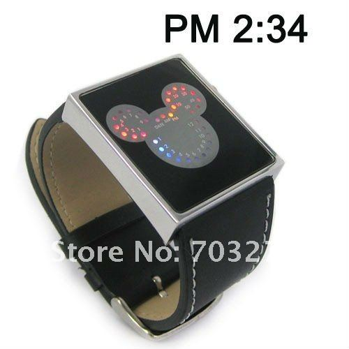 1PCS Mickey Minne Mouse Digital LED Watches Men Woman Children Luxury Brand Fashion Wristwatches shockproof and antimagnetic