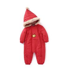 Balabala/детская с наполнителем, зимний комбинезон для малышей, цельный комбинезон для маленьких мальчиков и девочек, детская одежда, зимняя од...(China)