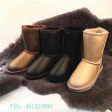 Nuevos cargadores de la nieve de Australia UBZ LO100 % lana Merino exterior e interior de piel de cuero corta de piel de oveja de lana zapatos calientes(China (Mainland))