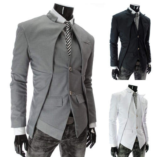 Mens Blazers 2014 Single Breasted Mens Blazer Casual Jacket Designs Suit Male Down Jacket Brazil Style Asymmetry Free ShippingОдежда и ак�е��уары<br><br><br>Aliexpress