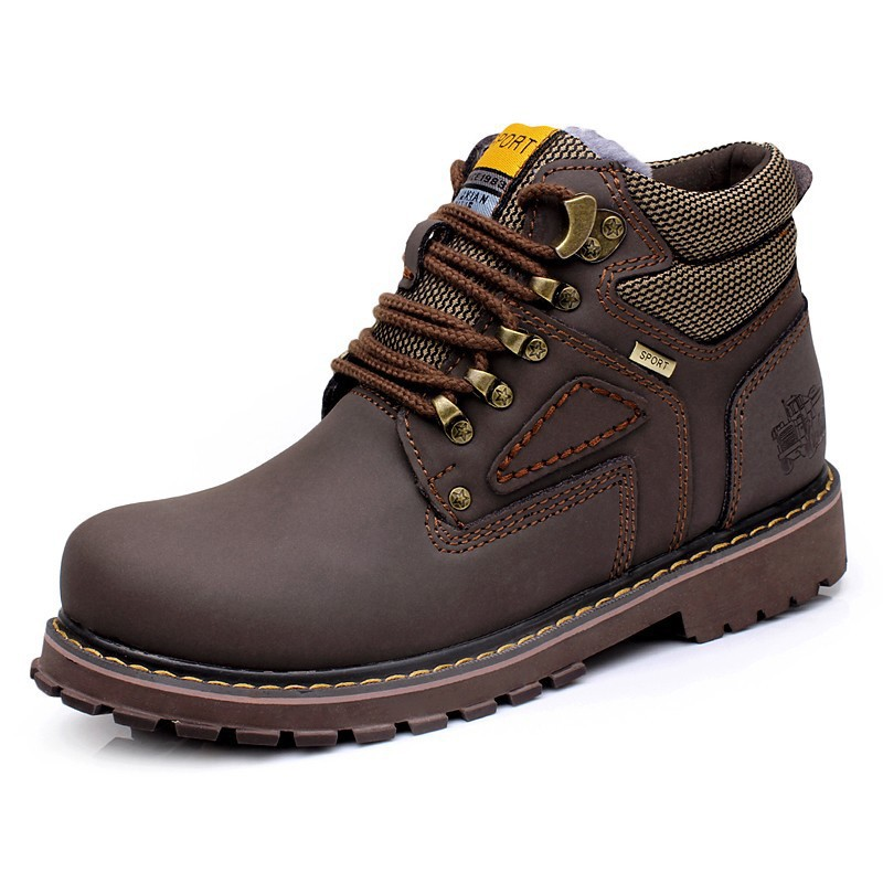 Mens High Top Shoes Male Boots British Style Trend Martin