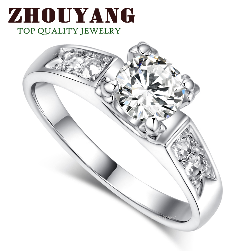 R052 Classic Crystal Ring 18K K Platinum Plated Wedding Ring ITALINA Genuine Austrian Crystals Full Sizes Wholesale(China (Mainland))