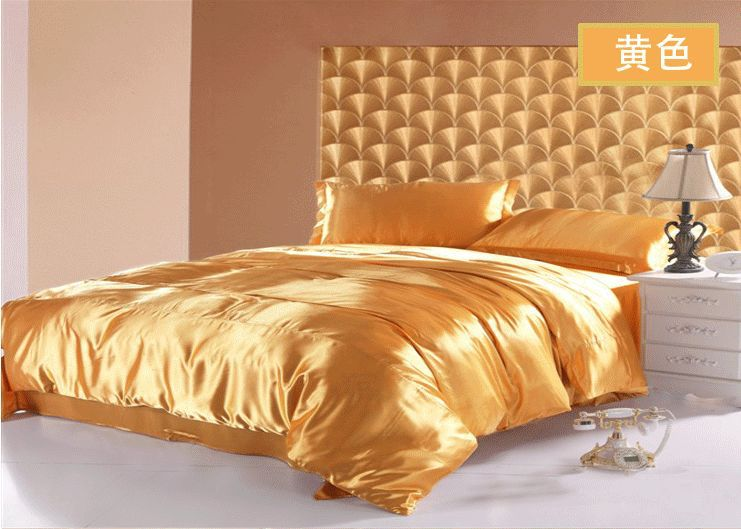Wholesale Price Silk 4pc King Size Bedding Luxury Hot Sale
