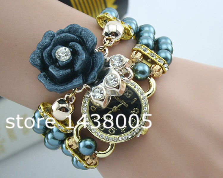 Reloj mujer женщины роскошь жемчуг браслет часы леди цветок свободного покроя кварцевый наручные часы 11 цвета relogio feminino