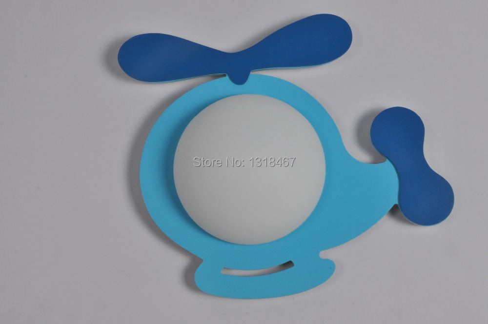 Free Shipping baby lighting  blue helicopter wall lamp<br>