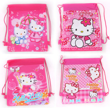 school bags  2014 new fashion hot cartoon hello kitty children  backpack bag  for kids boys girls mochila satchel free shipping