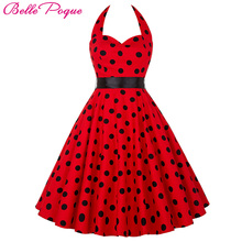 Buy Belle Poque Summer Womens Dresses 2017 Casual Polka Dot Retro Vintage 50s robe Rockabilly Swing Pinup Party Dress Plus Size for $19.75 in AliExpress store