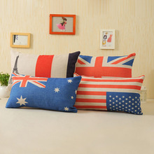 National flag printed Linen Cushions Pillow cover for Home