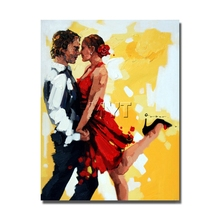 Buy Lover Wall Art Pictures Framed framed Oil Painting Canvas Palette Knife Canvas Picture Home Decoration for $17.00 in AliExpress store