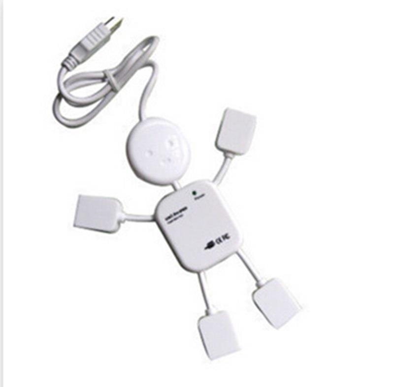 Mini USB 2.0 High Speed 4-Port 4 Port USB HUB Sharing Switch For Laptop PC Notebook Computer White(China (Mainland))