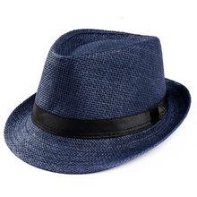 ใหม่ 2019 ขายร้อนรอบ Raffia หมวกฟางกว้างหมวกฤดูร้อน Sun หมวกสำหรับหมวกผู้หญิงชายหาดหมวก lady FLAT Gorras(China)