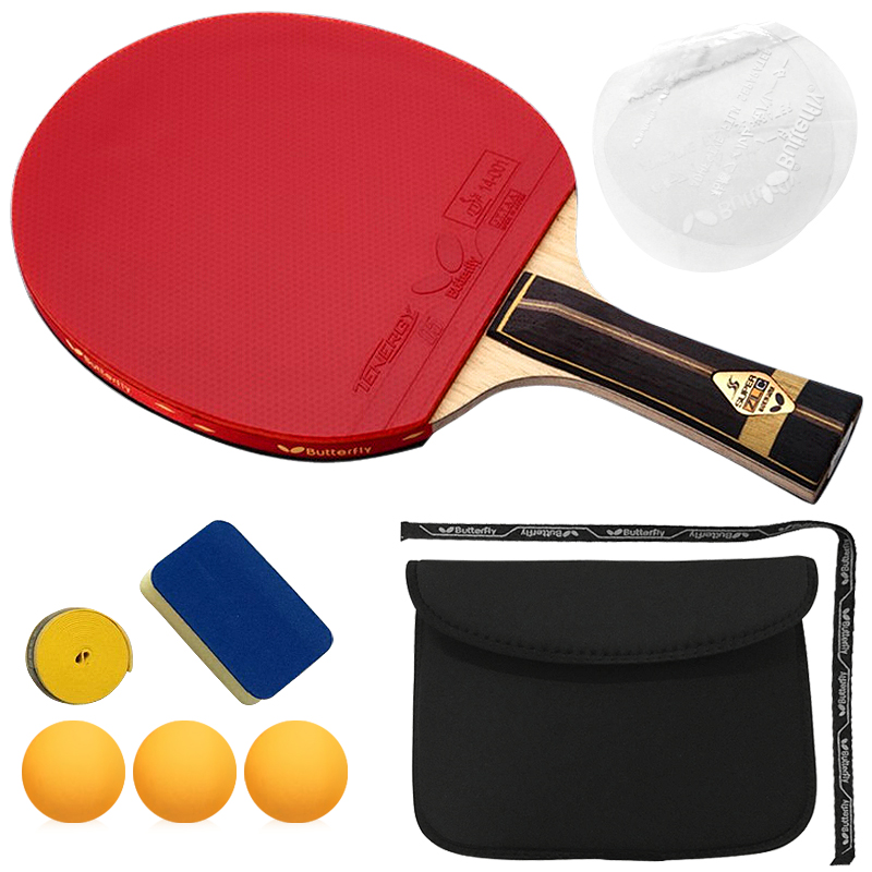 6 free gift High end best quality professional wooden handle grip to table tennis racket shake hand pingpong racket paddle(China (Mainland))