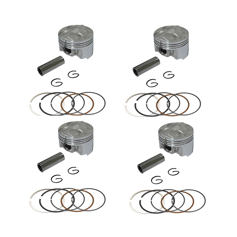 4 Sets Motorcycle Piston Kit for Yamaha FZ400 FZ 400 4YR Oversize +25 56.25mm Engine Parts Piston Rings Pin Clip Accessories(China (Mainland))