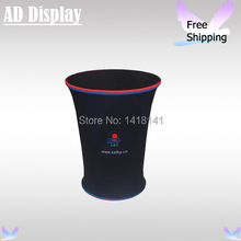 Trade Show Booth Advertising Tension Fabric Display Counter With Full Color Banner Printing,Portable Exhibition Promotion Table(China (Mainland))