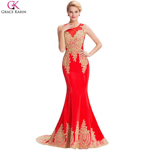 Длинные русалка вечернее платье грейс карин белый черный синий красный золотые аппликации ...