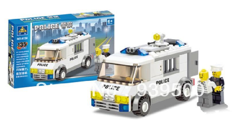 KAZI 6730 133D DIY Construction eductional plastic Bricks Building Block Sets Police prisoners cars Enlighten children toy - sweety baby's store