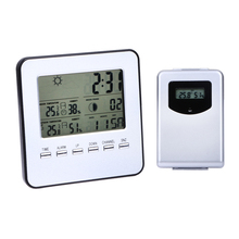 LCD Wireless Weather Station Digital Indoor/Outdoor Thermometer Hygrometer Temperature Humidity Meter Date Alarm Clock(China (Mainland))
