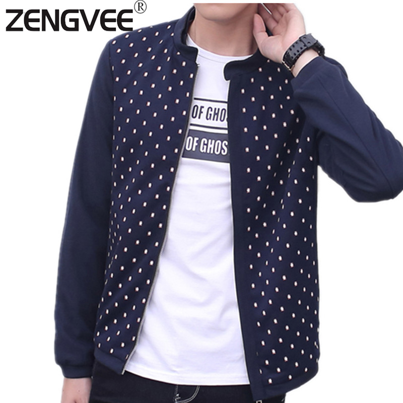 Mens Spring Jackets and Coats Jackets Men Windbreaker Stand Collar Slim Fit Dot Coats Comfortable Lined Breathable Free Shipping(China (Mainland))