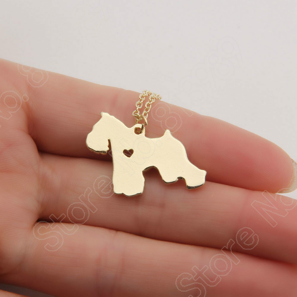30pcs Silver Schnauzer Necklace Puppy Dog Lover Heart Necklaces & Pendants Choker Women Necklace Pendant Charms Christmas Gifts(China (Mainland))