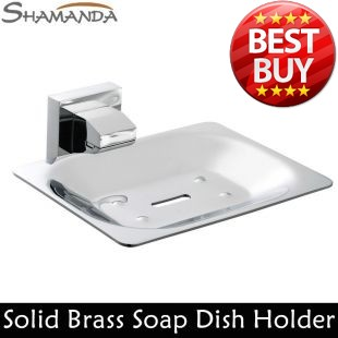 Free Shipping Soap Dish Holder Solid Brass Construction Chrome Finished Bathroom Products Bathroom Accessories-Wholesale-94006(China (Mainland))