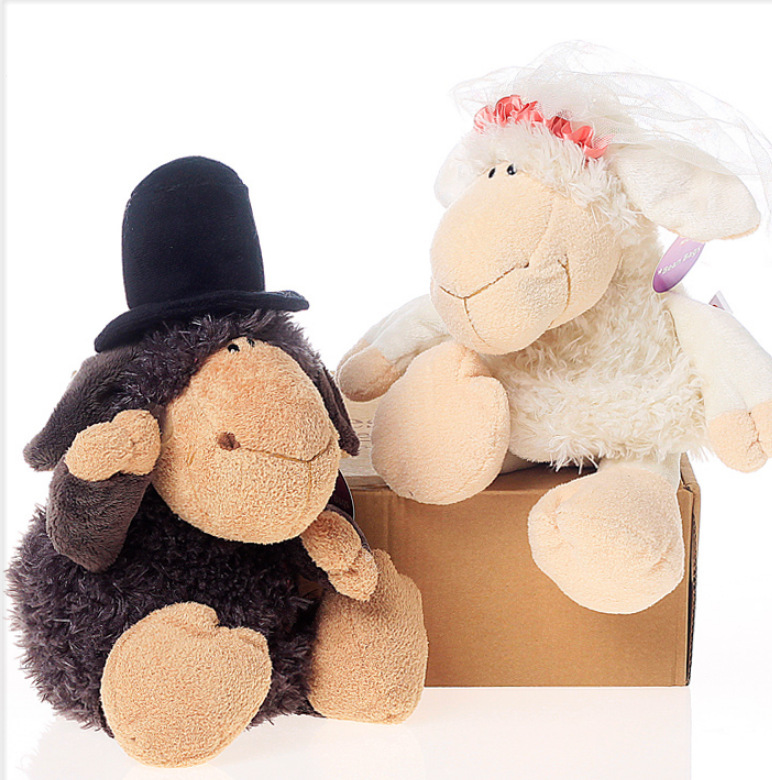 NICI sheep Plush toys 35 cm 1 pcs/set marriage Series stuffed sheep doll toy for couple marriage gift(China (Mainland))