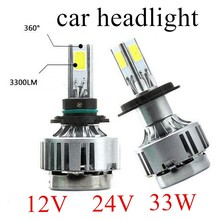 Buy new arrival 2 pieces 24V 12V 6000K Led Light Bulb 5202 9004 9007 9006 H4 H7 H8 H9 H11 H10 9005 H13 Car Headlight Fog 3000LM for $36.64 in AliExpress store