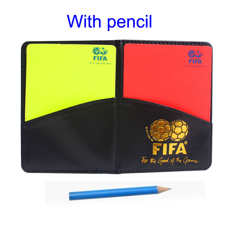 Gojoy Football referee card with wallet Professional Soccer cards plastic Sports referee red and yellow cards Wholesale(China (Mainland))